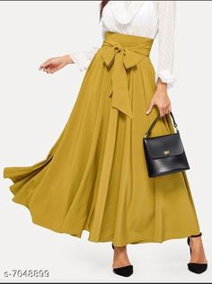 Skirts Same Fabric: Crepe Pattern: Solid Multipack: 1 Sizes:  36 (Waist Size: 36 in Length Size: 40 in)  34 (Waist Size: 34 in Length Size: 40 in)  32 (Waist Size: 32 in Length Size: 40 in)  30 (Waist Size: 30 in Length Size: 40 in) Country of Origin: India Sizes Available: 26, 28, 30, 32, 34, 36   Catalog Rating: ★4 (4932)  Catalog Name: Women Western Skirts CatalogID_1124705 C79-SC1040 Code: 023-7048899-957