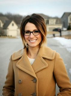 Glasses with cute haircut and color