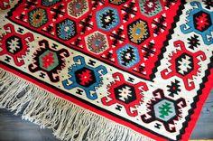 Vintage Sarköy Kilim Rug, Sarkoy Wool Kilim Rug, Pirot Kilim Rug Runner, Tribal Rug, Ethnic Rug, by ColoursAndSoul on Etsy
