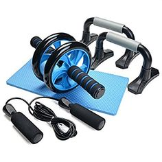 Amazon.com : 3-In-1 AB Wheel Roller Kit - Odoland AB Roller Pro with Push-Up Bar, Jump Rope and Knee Pad - Perfect Abdominal Core Carver Fitness Workout for Abs - with Workout Guide : Sports & Outdoors