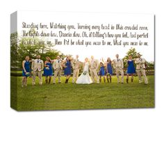 Bachelorette Party Photo on Canvas - Wedding party photo on canvas.