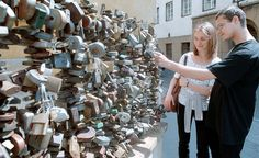 Love locks in Pecs, south of Budapest, Hungary. Been there!