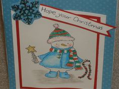3D Pop Up Snowman and Christmas Bulb Christmas by LadyJPaperGarden #pcfteam