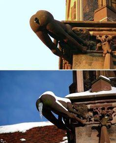 Las gárgolas que adornan las fachadas de muchas iglesias de todo el mundo son, a pesar de sus formas demoníacas y turbadoras, las protectoras de los fieles