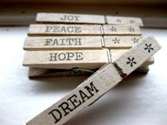clothespins with a message