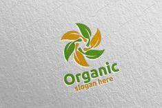 Natural and Organic Logo design template 29 Logo Design Template, Logo Templates, Organic Logo, School Design, Design Bundles, Slogan, Free Design, Design Elements, Concept