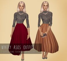 Hello everyone! Today I've made these outfits using textures from asos.com. Also I'll have 1k followers soon, so I've begun to prepare a new followers gift! Download