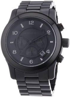 Michael Kors MK8157 Mens Black Chronograph Watch - http://www.specialdaysgift.com/michael-kors-mk8157-mens-black-chronograph-watch/