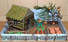 осенняя поделка для детей домик в деревне