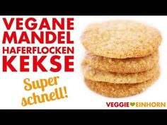 Schnelle vegane Haferflockenkekse mit Mandeln und Apfelmus   Rezept mit Video