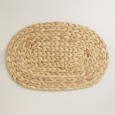 One of my favorite discoveries at WorldMarket.com: Natural Fiber Oval Placemat, Set of 4