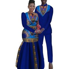 African Couples Sets Man And Women Matching Dashiki Print Clothing Couples African Outfits, African Dresses Men, African Clothing For Men, African Fashion Ankara, Latest African Fashion Dresses, Couple Outfits, African Print Fashion, African Traditional Wedding Dress, African Fashion Traditional