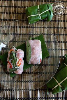nem chua - vietnamese fermented pork rolls