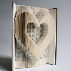 Heart Book Folding Pattern: Plus free printable downloads (pdf) to personalise your book art and full step by step tutorial.
