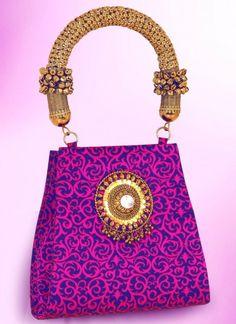 Lovely Pink Jacquard Vintage Bag