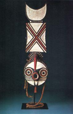 "Burkina Faso; Bwa peoplesLuruya(mask)Wood, pigment, fiberH. 81.28 cm (32"")The University of Iowa Museum of Art, The Stanley Collection, X1990.633"