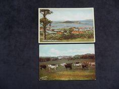 2 POSTCARDS OF HOWTH, CO. DUBLIN, HOWTH FROM THE HILL, HOWTH CASTLE | eBay Dublin Bay, Dublin Ireland, Lighthouse, Postcards, Castle, Ebay, Greeting Card