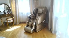 Main features: Fully automatic massage in all combinations, 340 massage combinations, Full back massage - from neck to hips, Needs no space behind the chair Shiatsu Massage Chair, One Room Apartment, Good Massage, Yamaguchi, Diy Chair, Reflexology, Chairs For Sale, Chair Pads, Constitution