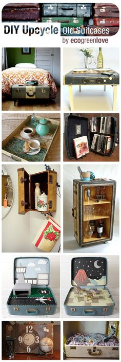 15+ Creative Ideas to Repurpose Old Suitcases | ecogreenlove