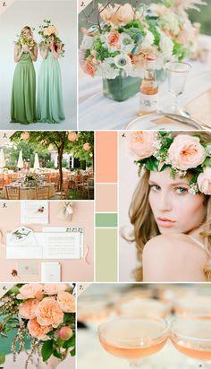 Peach & Green | Persikkaa & vihreää - Best Day Ever -- great palet for Leilahs room
