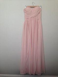 Size 10 - $95 on Tradesy - Pearl Pink Empire Sweetheart Strapless Floor-length Chiffon Dress