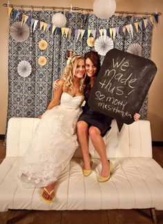 I like this navy and photobooth. It has good colors, it's a fantastic idea, AND the bride is wearing flip flops! So cute!