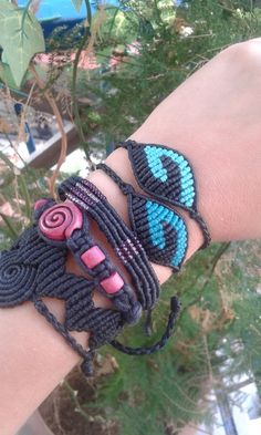 YIN-YANG macrame bracelet/ balance bracelet/ handmade jewelry/ micromacrame/ original design by Aliki Peppa/gift for him/ gift for her