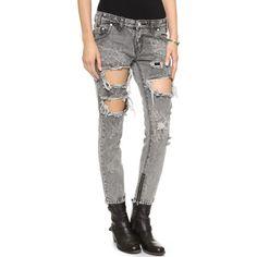 One Teaspoon Melrose Trashed Jeans - Melrose