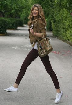 Zara  Pants, Converse  Flats and George Gina & Lucy  Bags