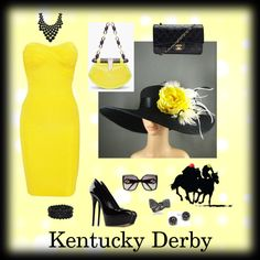 138th Kentucky Derby Attire, created by townsendteach on Polyvore