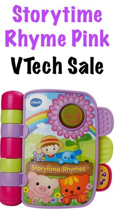 VTech Storytime Rhyme Pink Toy Sale: $8.99! #toys