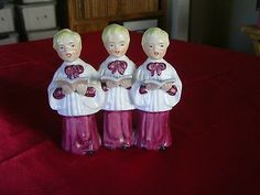 Vintage Hand Painted Chase Ceramic Christmas Choir Boys Carolers | eBay - 5 1/8