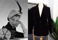 Gold Velvet Dress, Black Velvet Jacket, Bias Cut Dress, Column Dress, Tailored Jacket, Vintage Velvet, Embellished Dress, 1950s Fashion, Black Blazers