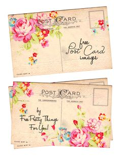 Vintage Inspired Arts and Crafts Postcard Images - Free Pretty Things For You