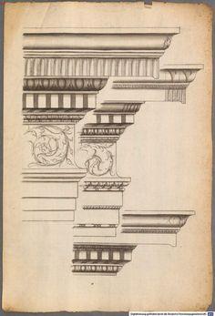 209 e: Scan Column Design, A Level Art, Islamic Architecture, Corinthian, Baroque, Restoration, Cornices, Woodworking, Architectural Drawings