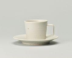 コーヒーカップ&ソーサー 白マット - 能登島の生活から生まれる道具 | notodesign