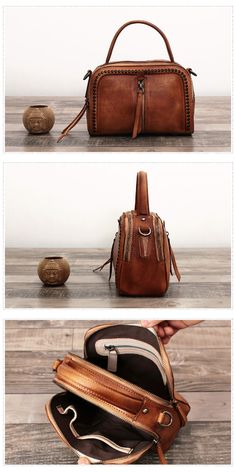 Handmade Full Grain Leather Cross body Bag Designer Satchel Bag