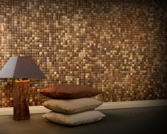 Coconut Shell Tiles -  well not sure if I'd like them in my house but they are VERY cool!!!