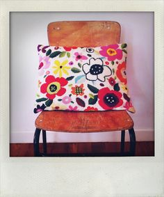Tapestry Flower Cushion by Julia Christian by JuliaChristianArt, $160.00