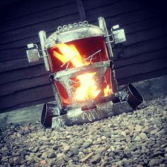 "Big-Rig Firepit Woodburners By Barry Wood @ ""CaddyshackCreations"" ... https://m.facebook.com/LogWoodBurners"
