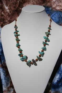 Beautiful Turquoise and Seed Necklace by summithaus on Etsy