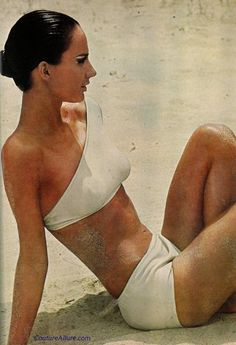 Sport Trio one shoulder swimsuit, 1965.