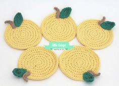 lemon crochet coaster. so cute!