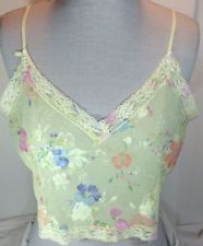 Victoria'S Secret Womens Large Yellow Cami Floral Lace Spaghetti Strap Sheer | eBay
