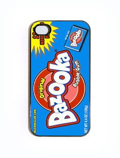 iPhone 4 4s Case Bazooka Bubble Gum Hard Case Comes by KustomCases, $15.00