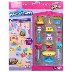 Happy Places Shopkins Season 3 Home Decorator Pack, Birthday Party