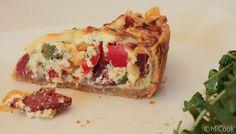 Paprika quiche met salami - MiCook