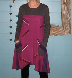 Sweater Tunic or Dress L/XL, Upcycled Clothing, Recycled Sweaters, Women, Size L/XL