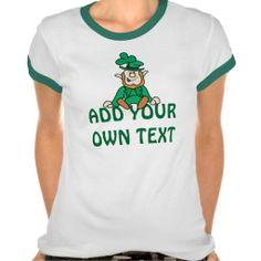 Little Leprechaun - Add Your Own Text Tshirt