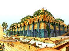 Un disegno ipotetico dei Giardini Pensili di Babilonia